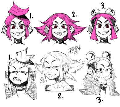 Character Design, Hairstyles.